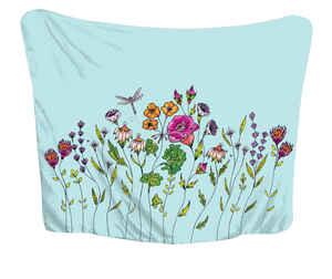 Fresh Wildflowers Huggme Blanket