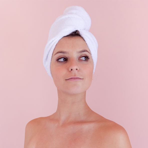 Happy Is The New Pretty - Hair Towel Wrap