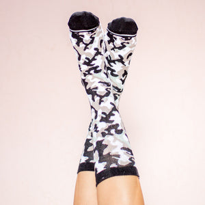 Faceplant Bamboo®Socks: Camouflage Grey