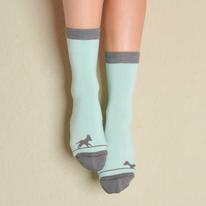 Faceplant Bamboo® Crew Socks - Puppy Love