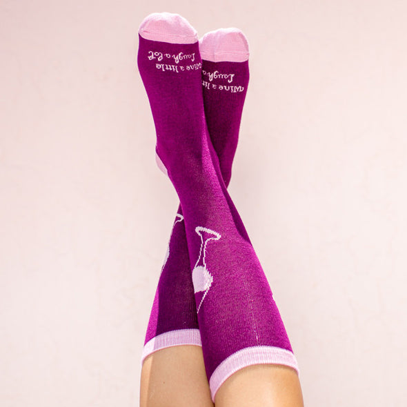 Faceplant Bamboo®Socks: Wine a Little
