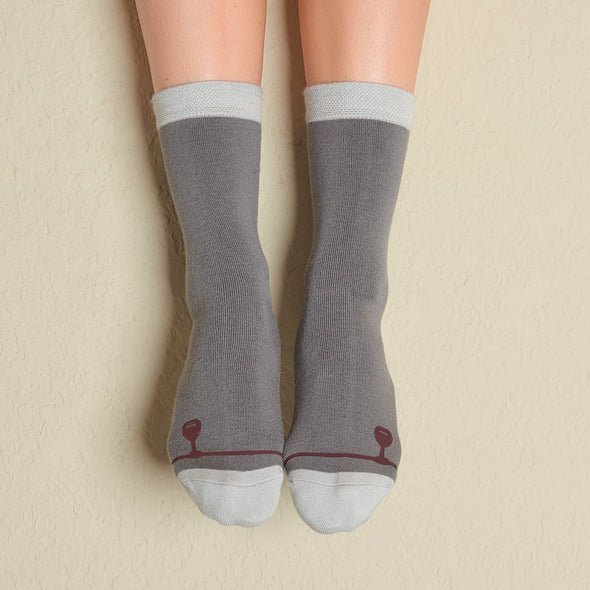 Faceplant Bamboo® Crew Socks - Wine Down