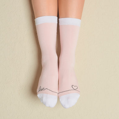 Faceplant Bamboo® Crew Socks - Heartstrings
