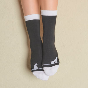 Faceplant Bamboo® Crew Socks - Are You Kitten Me?