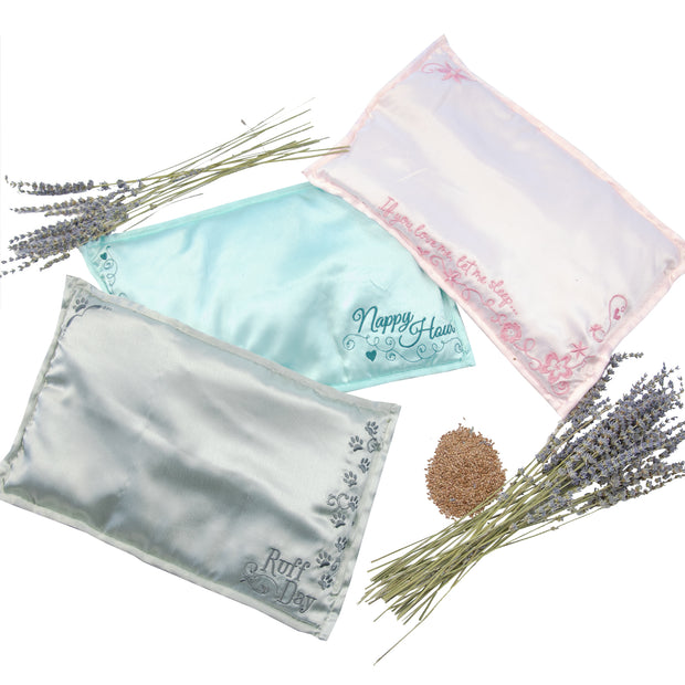 Ruff Day - Lavender & Flax Hot/Cold Pillow 1