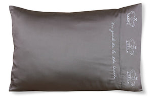 Tis Good To Be The Queen - Bamboo Satin Pillowcase - Faceplant Dreams