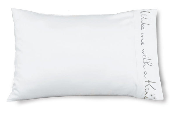 Wake Me With A Kiss - Bamboo Satin Pillowcase - Faceplant Dreams
