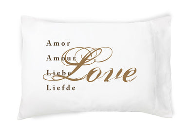 Love (in 5 languages) - Pillowcase - Faceplant Dreams