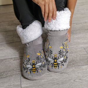 NEW - Queen Bee Grey Bedroom Booties