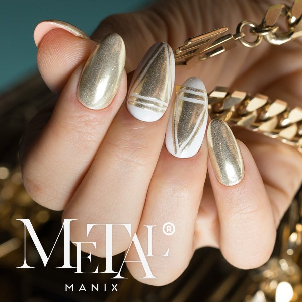 Metal Manix Effect Light Gold 2.5g-Nail Art-Indigo-NR Kosmetik