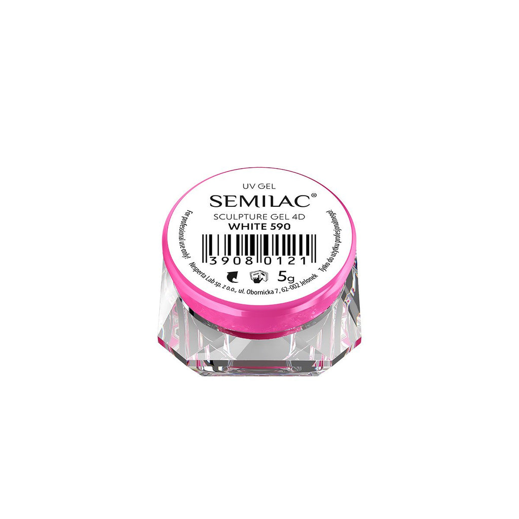Semilac Sculpture Gel 4D 5g - 590 White