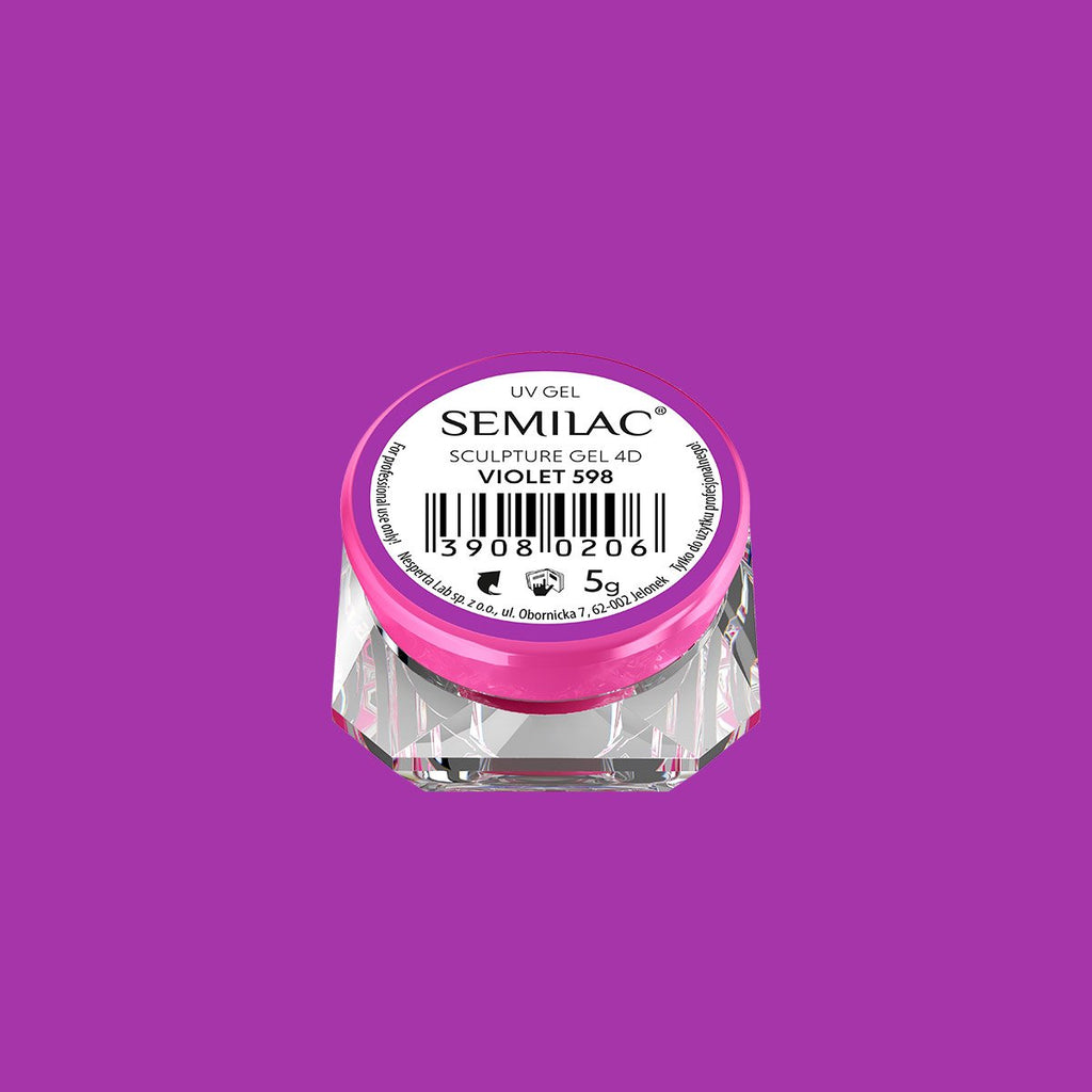 Semilac Sculpture Gel 4D 5g - 598 Violet
