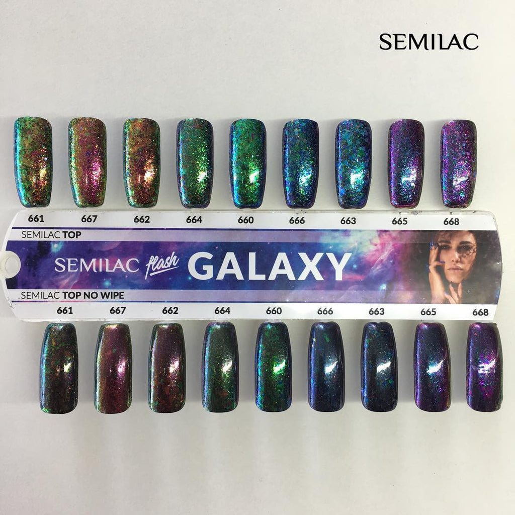 SemiFlash Galaxy - Green & Purple 664 - 0,5 gram