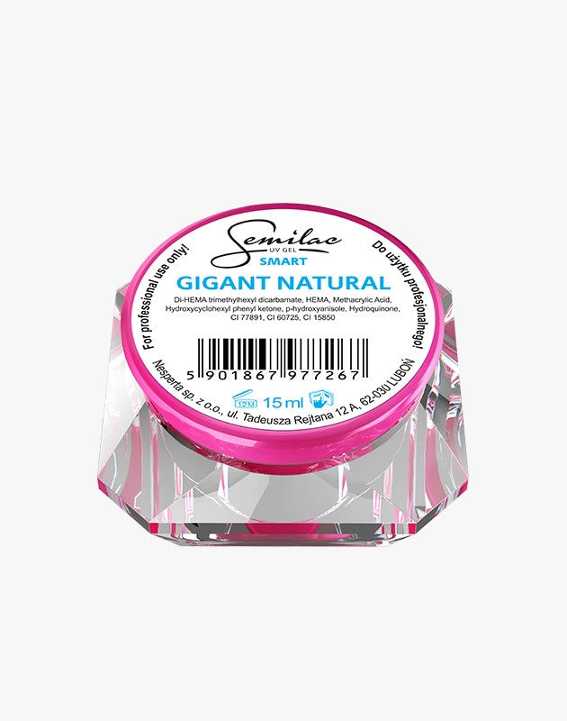 Gel Smart Gigant Natural - (5 ml til 50 ml) - trefaset