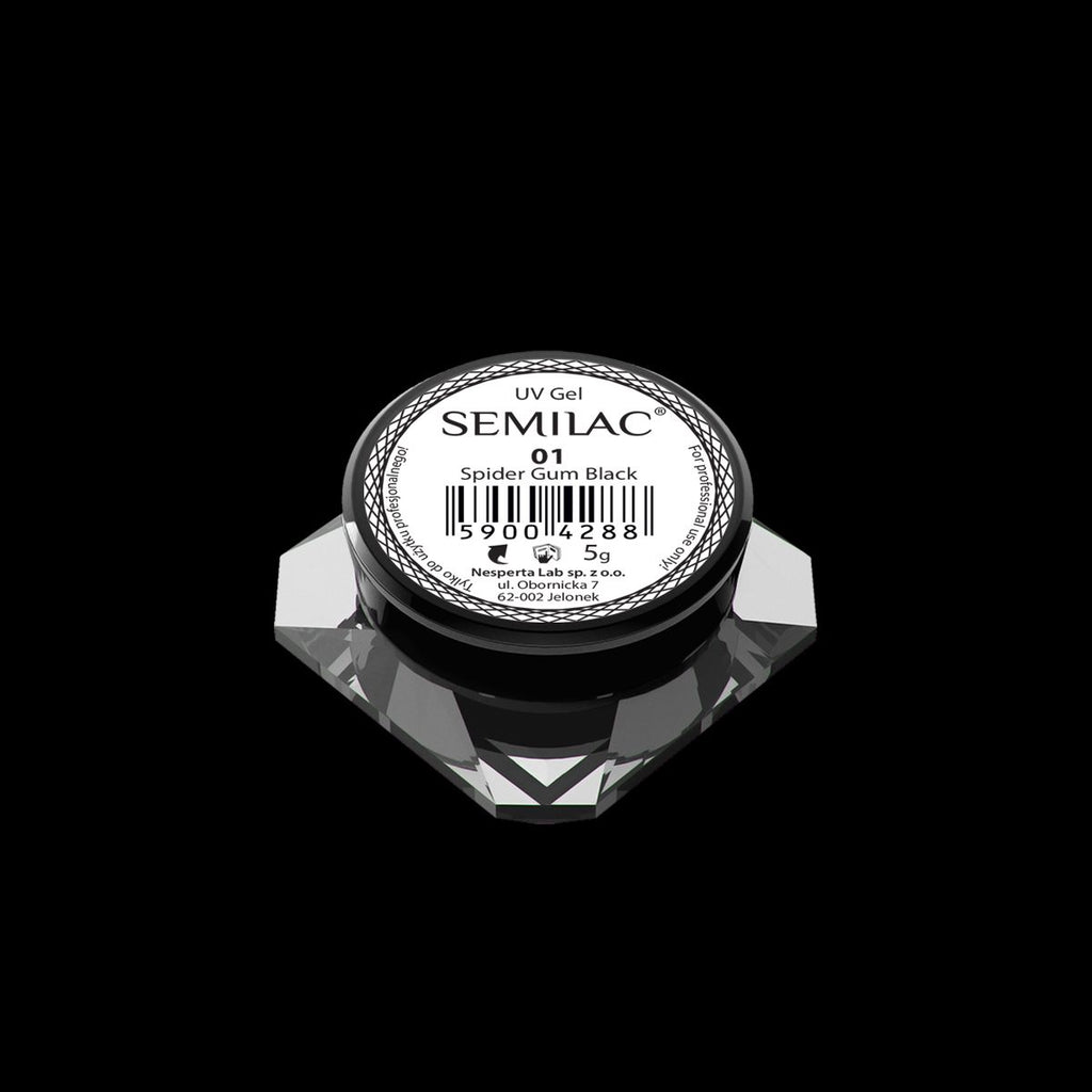 Semilac Spider Gel - 01 Black