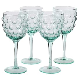 Bubble wine glasses set of four