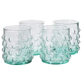 Bubble tumbler glasses set of four