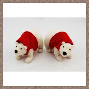 Standing polar bear decoration