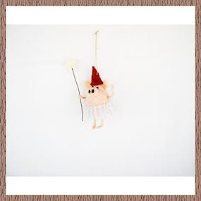 Hanging fairy pig with wand