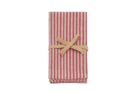 Napkins country ticking set 4