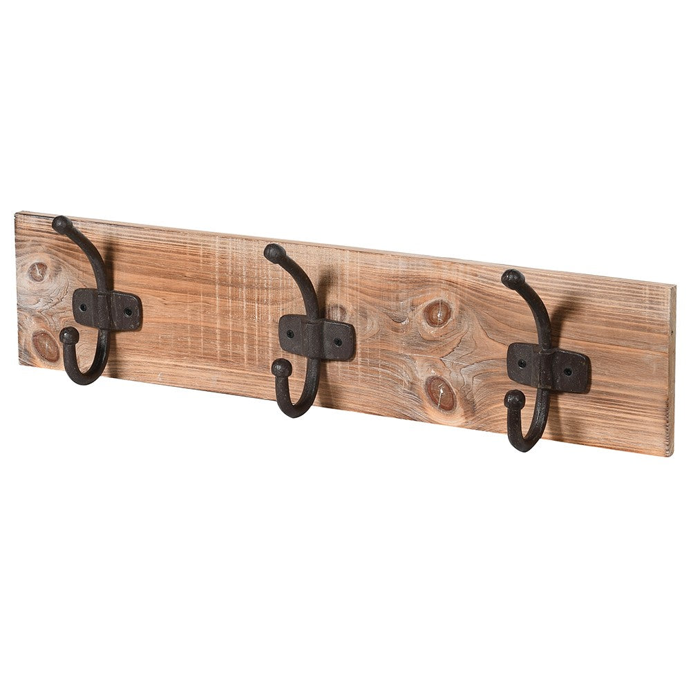 Wooden coat hook x 3