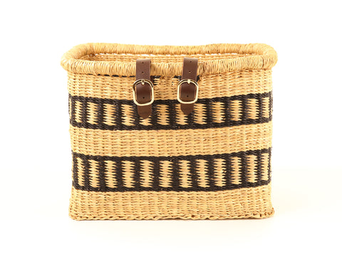 Rectangular Bicycle Basket Black/Natural
