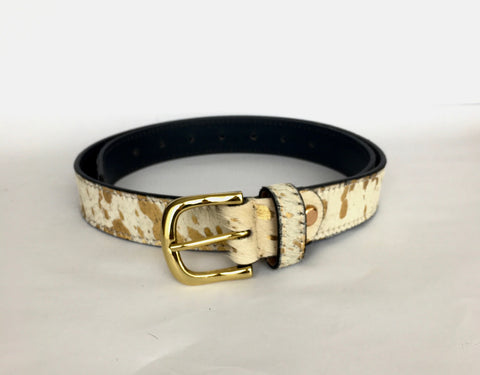Gold splash hide belt