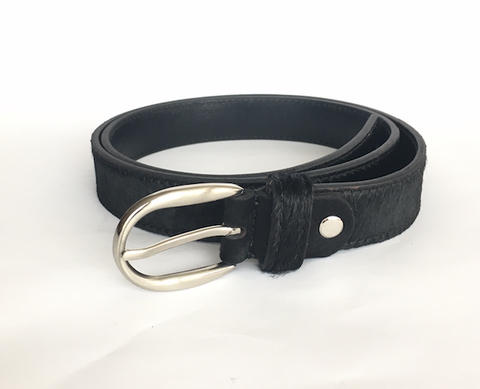 Black hide belt