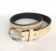 Natural hide belt
