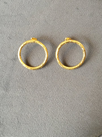 Small earrings, gold circle earrings