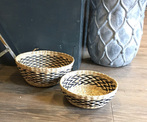 Black & Sea grass baskets