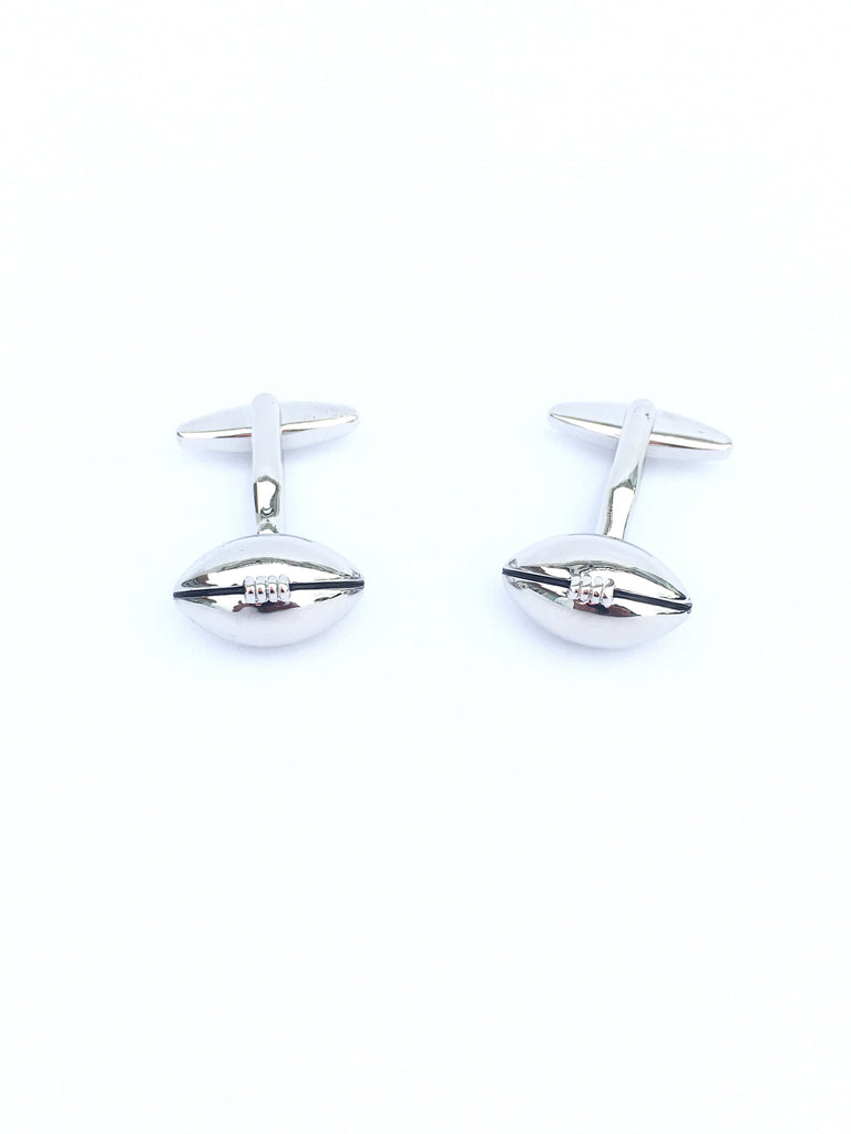 Cuff links, Rugby ball