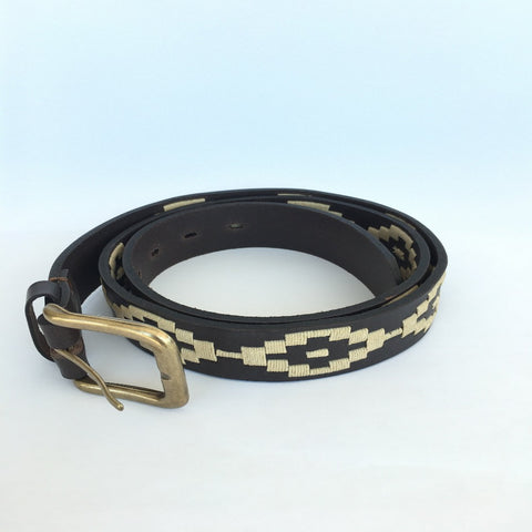 Polo Belt, Brown & cream