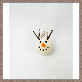 Snowman head with antlers