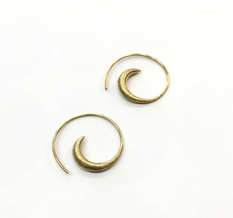 Gold Earrings, spiral