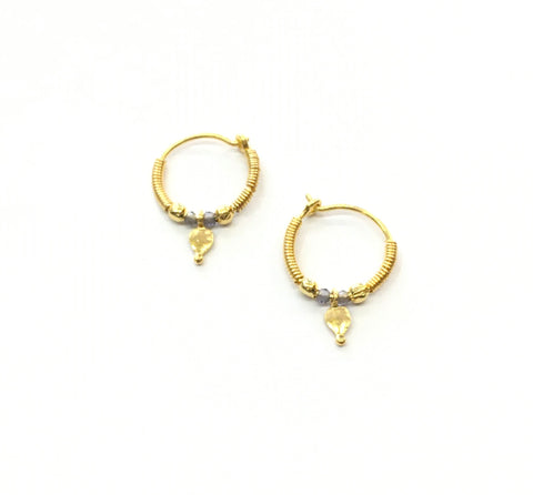 Gold earrings tiny hoop