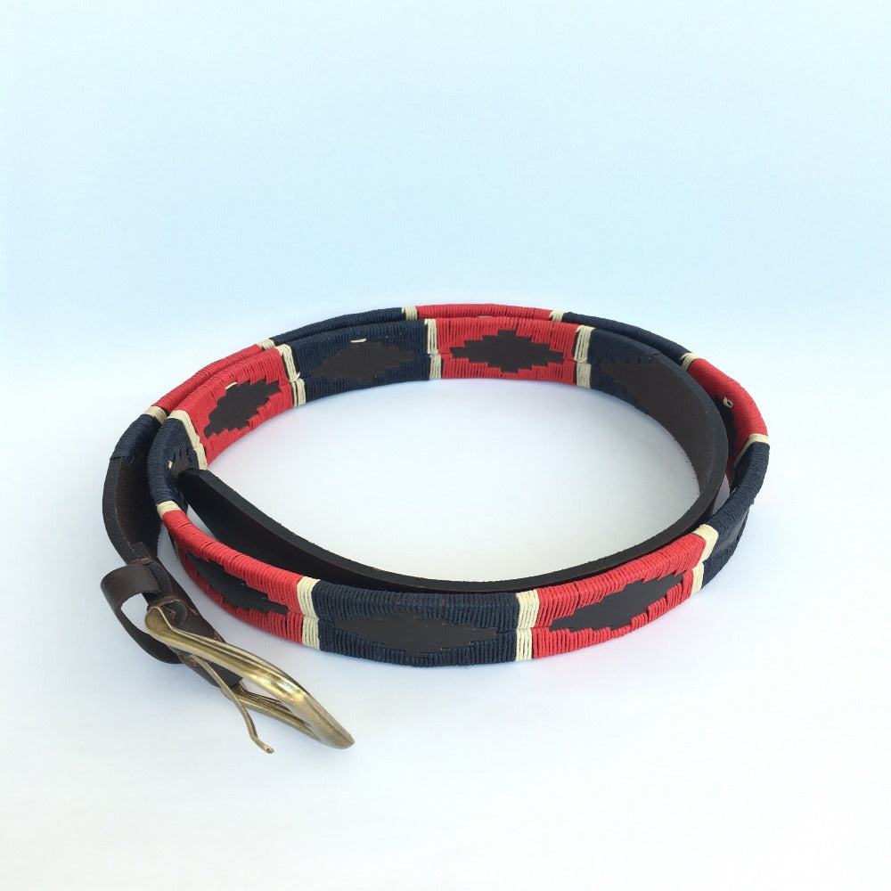 Polo Belt, Red & Navy