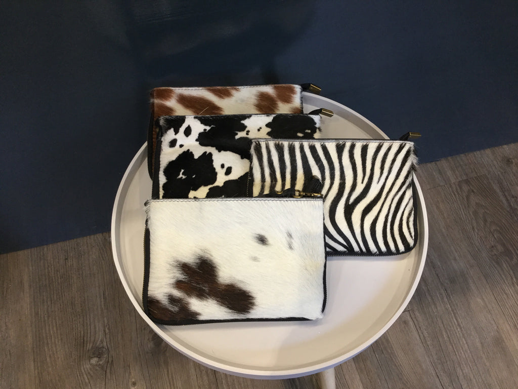 Large Cow Hide clutch bags