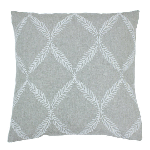 Cushion, grey cotton