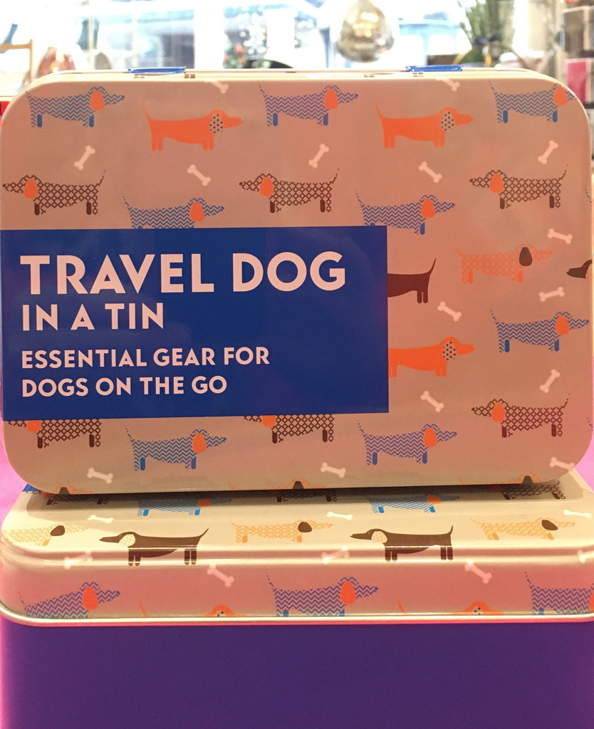 Gift in a tin, travel dog
