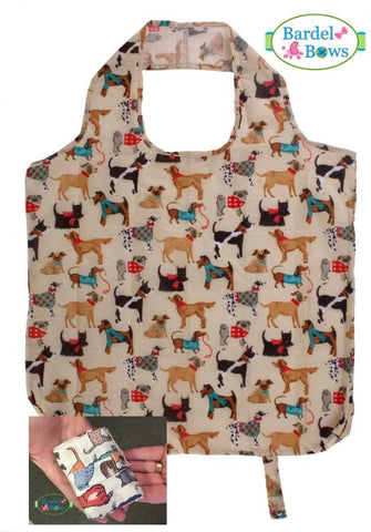 Dogs! Packable Re-Usable Shopping Bag, Hound Dog Design