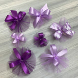 Combination Of Purple and Lavender Bows - Multiple Sizes