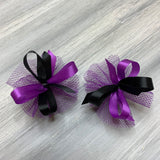 High School & College Color Bows - Black and Purple - 50 Bows