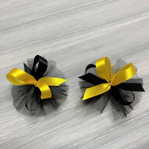High School & College Color Bows - Black and Gold - 50 Bows