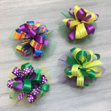 Mardi Gras Collar Bows - 8 Large Bows
