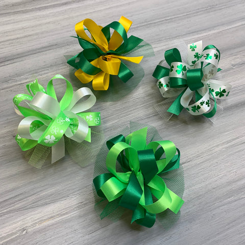 St Patrick Collar Bows - 8 Large Bows