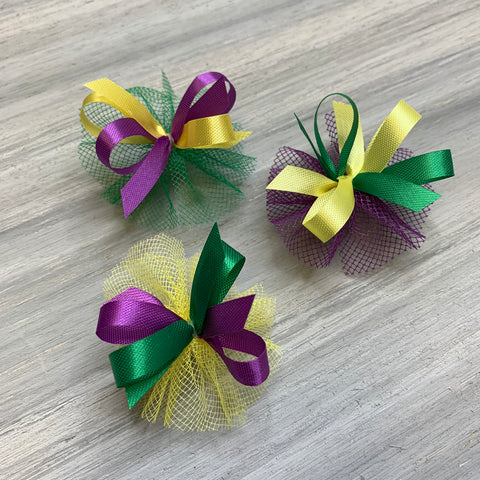Mardi Gras Collection - 50 Medium Bows