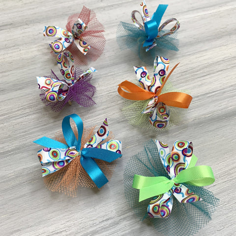 Retro Brights - 7/16 size - 50 Medium Bows