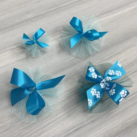 Dog Grooming Bows - Teal