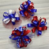 Patriotic Collar Bows - 8 Extra Large Bows